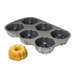 "Focus 905006 Muffin Pan, 2 Rows Of 3, Makes (6) 4"" Muffins"