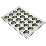 "Focus 905445 Jumbo Muffin Pan Holds (24) 3-3/8"" Muffins, Glazed Aluminum"