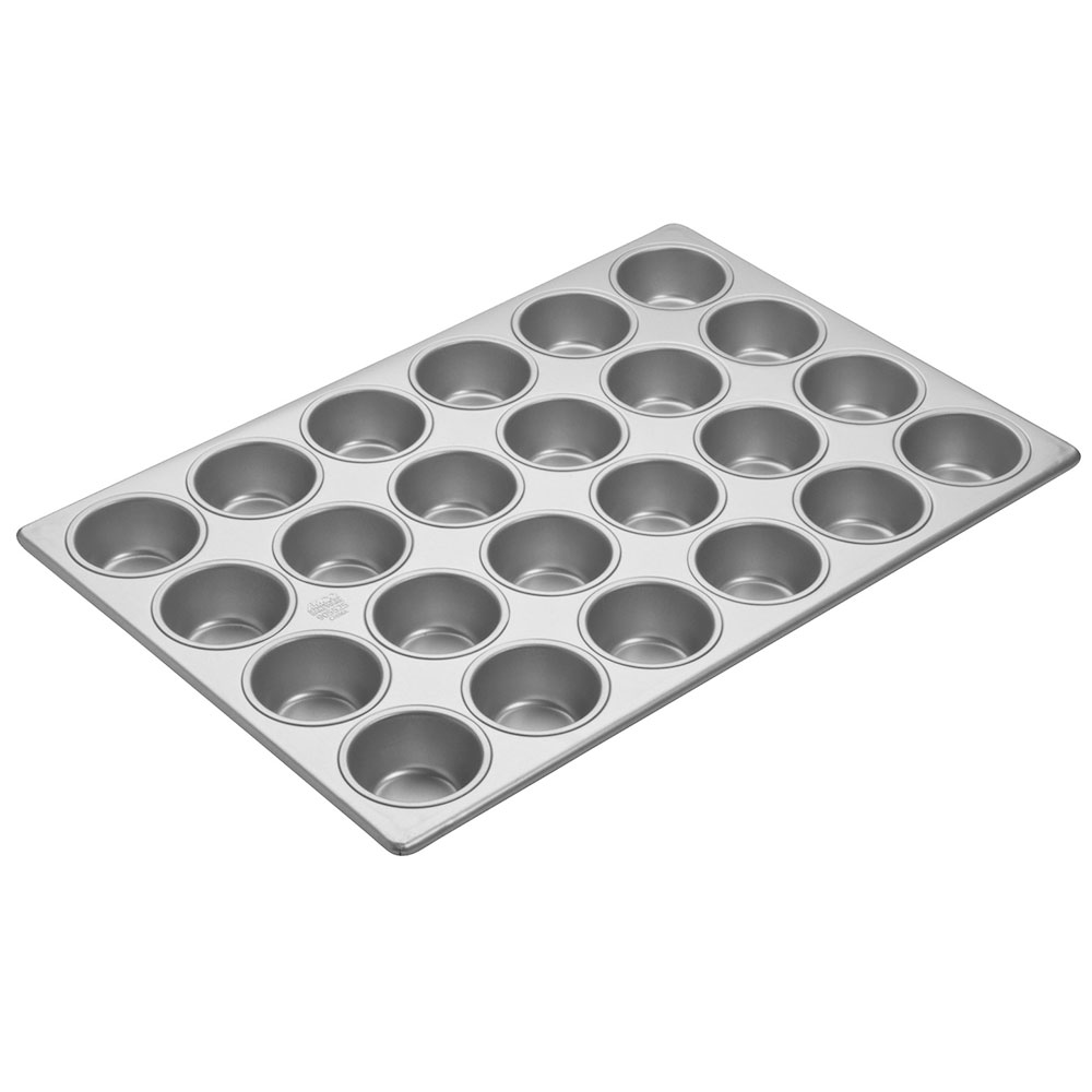Focus 905605 Cupcake Pan, 4 Rows Of 6, Holds (24) 2-3/4 in Dia. Cupcakes, Steel