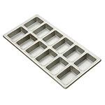 "Focus 905755 Mini-Loaf Pan, Holds 3-7/8"" X 2-1/2"" Mini Loaves"
