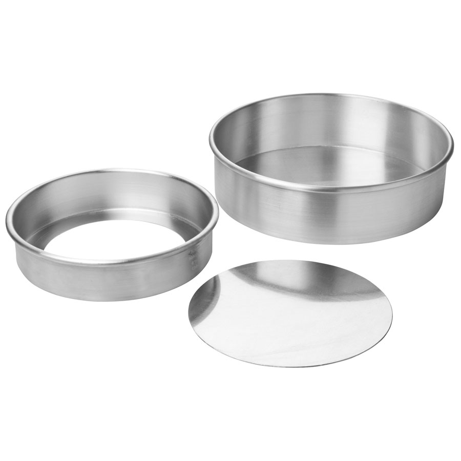 Focus 90ACC82 Rolled Edge Cheesecake Pan, Removable Bottom, Aluminum, 8 x 2 in