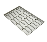 Focus 902505 Sub Sandwich Roll Pan, 5 Pockets, Perforated Aluminum, 12-1/2 X 3 in