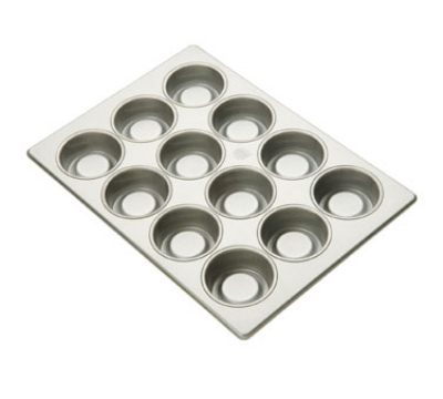 Focus 903395 Strawberry Shortcake Pan Holds (24) 3-3/8-in Cake, Glazed Aluminum