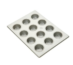Focus 905255 Mini Muffin Pan Holds (48) 2-1/16-in Muffins, Glazed Aluminum