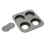 Focus 926664 Non-Stick Tartlet Pan, Holds (4) Tarts, Carbon Steel