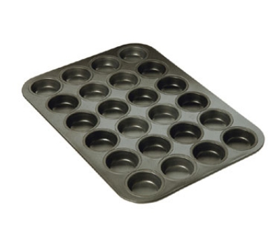 Focus 969024 Non-Stick Mini Muffin Pan, Aluminized Steel, Holds 24 Muffins