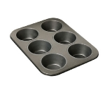 Focus 969669 Non-Stick Giant Muffin Pan, Aluminized Steel, Holds 6 Giant Muffins