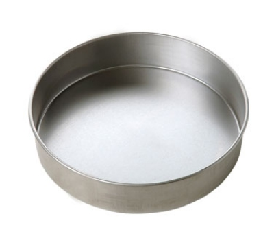 Focus 977029 Round Cake Pan, Aluminized Steel, Natural Finish, 9 x 2 in