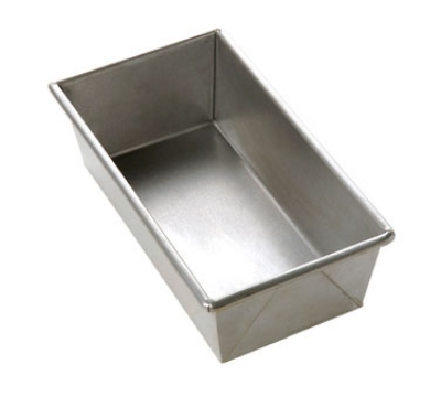 Focus 977042 1-lb Bread Pan, 8-1/2 x 4-1/2 x 2-3/4-in, Aluminized Steel