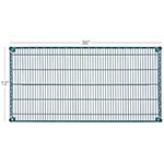 Focus FF1248GN Epoxy Coated Wire Shelf - 48x12""