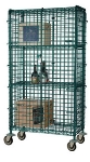 Focus FMSEC2436GN 36-in Chrome Mobile Security Cage Kit w/ Bumbers, 24-in Deep
