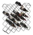 Focus FWBR45BK Display Wine Rack w/ 45-Bottle Capacity, Black Epoxy Finish