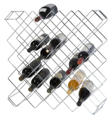 Focus FWBR45CH Chromate Wine Rack Modules, 45 Bottle Capacity, 8 x 26-1/2 x 26-1/2 in