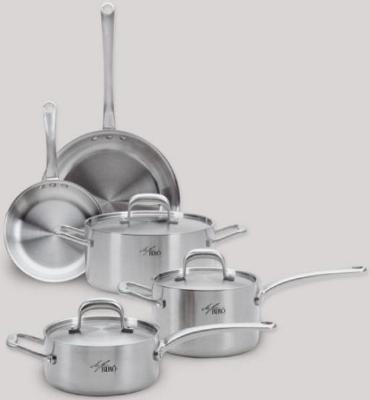 Focus BR008 Biro 8 Piece Cookware Set, Tri-Ply, Brushed Satin Finish