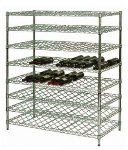Focus FDWS2436CH 18-Bottle Double Wire Wine Shelf, Chromate Finish