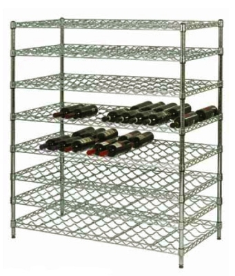 Focus FDWS2448CH 24-Bottle Double Wire Wine Shelf, Chromate Finish