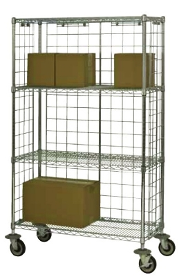 Focus FEMK243669CH Chrome Wire Shelving Unit w/ (4) Levels, 24x36x63""