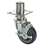 "Focus FAC4125 4"" Adjustable Caster w/ Brake - 8"" Overall Height, 220-lb Capacity"
