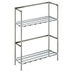 "Focus FBKR184854 (2) Level Keg Rack w/ (4) Keg Capacity, 48"" x 18"" x 54"""
