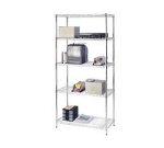 Focus FK244874CH Chrome Wire Shelving Unit w/ (4) Levels, 48x24x74""
