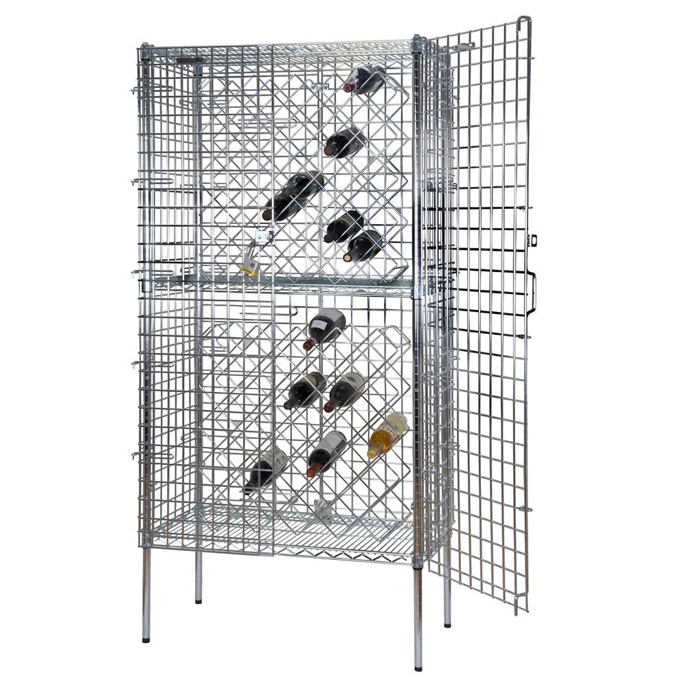 Focus FDSWR2448CH Stationary Wine Rack w/ 8-Shelves, 192-Bottle, Chromate