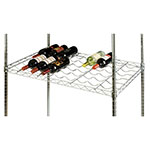 Focus FDWS2436CH Commercial Wine Shelf w/ (18) Bottle Capacity, Chrome