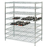 "Focus FDWSK4854CH Double Wine Shelf Kit w/ 48"" Shelves, 144-Bottle, Chromate"