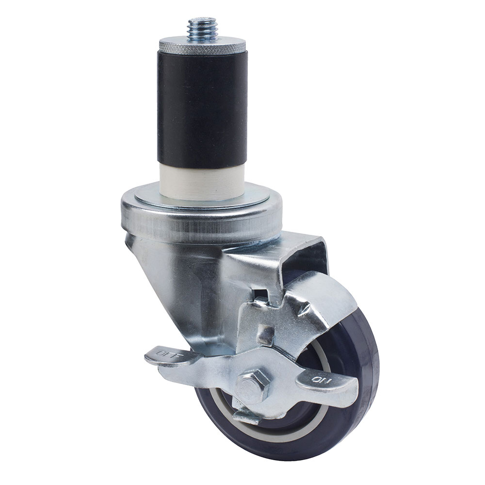 "Focus FECST3 Expanding Stem Swivel Caster w/ Brake, 3"" Diameter"