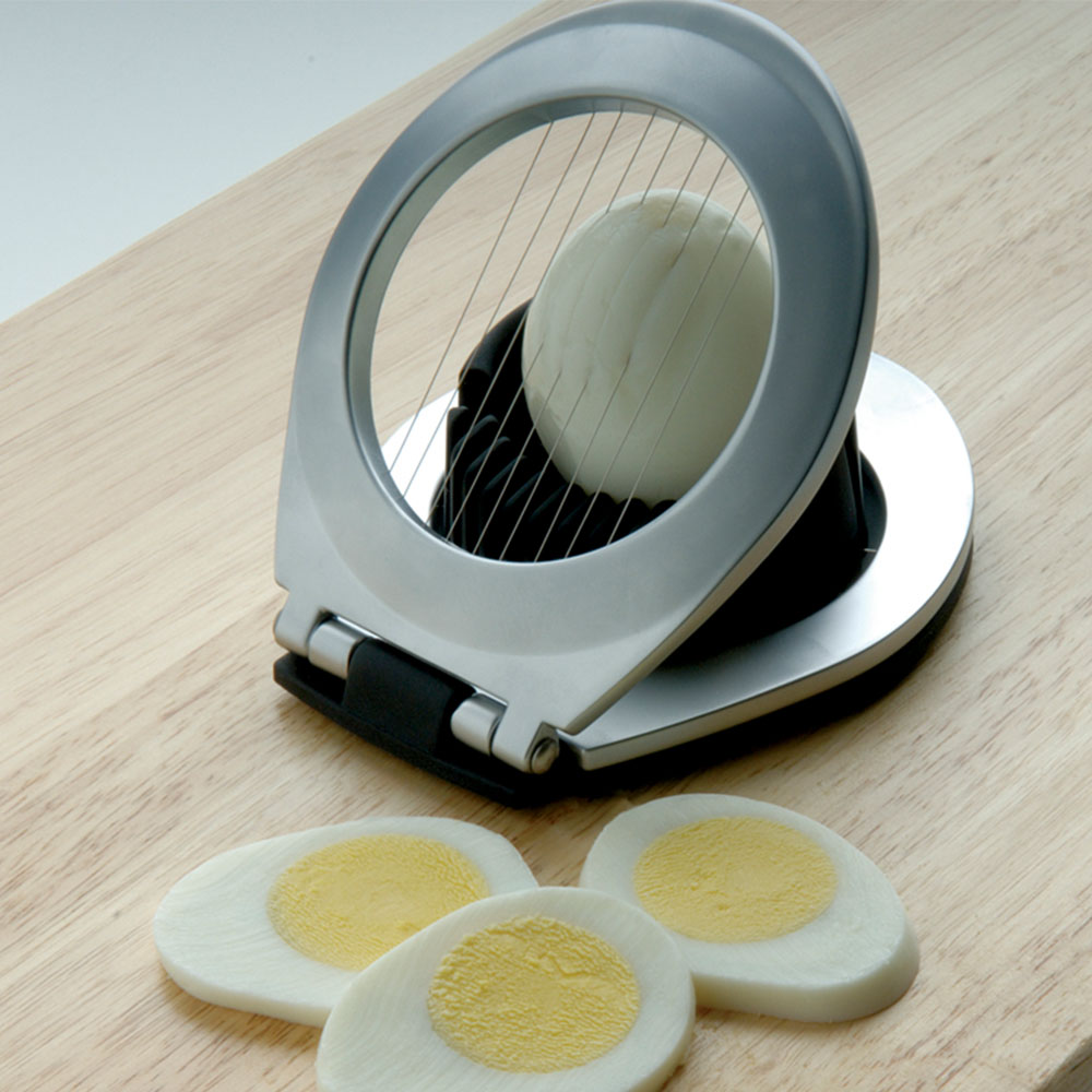 Focus FESW Egg Slicer Wedger - Extra Heavy Stainless Steel Wires, Zinc Die Cast, Nylon, Silicone Feet