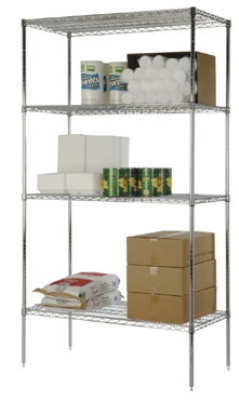 Focus FF2448SS Flat Stainless Solid Shelf Raised Edges 24 X 48 in Restaurant Supply