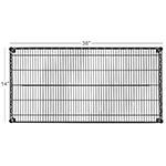 "Focus FF1436BK Epoxy Coated Wire Shelf - 14x36"""
