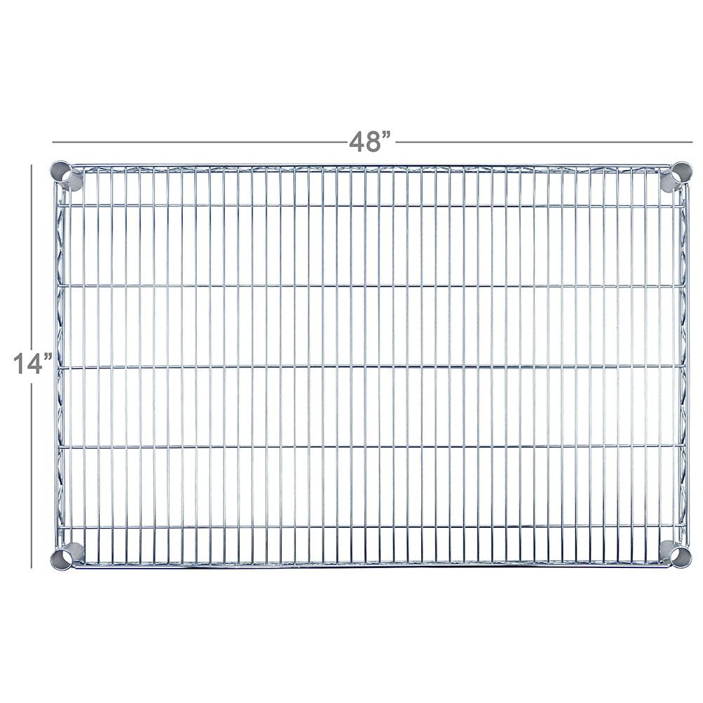 """Focus FF1448C Chrome Wire Shelf - 14x48"""""""