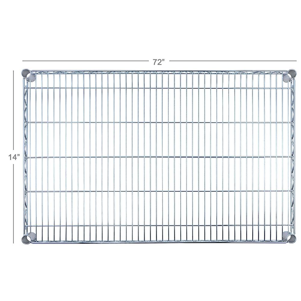 """Focus FF1472C Chrome Wire Shelf - 14x72"""""""