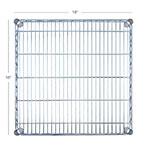 "Focus FF1818CH Chrome Wire Shelf - 18x18"""