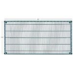"Focus FF1830G Epoxy Coated Wire Shelf - 18x30"""