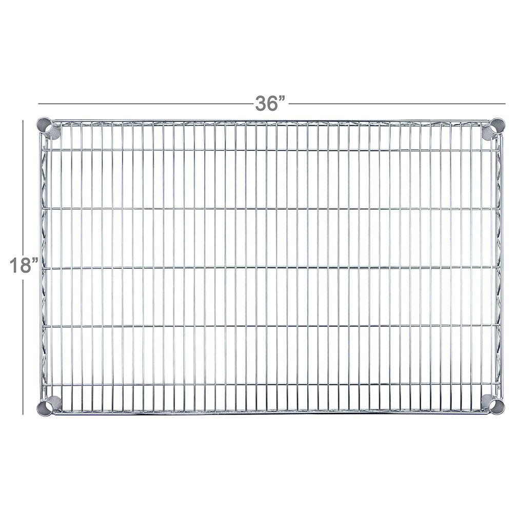 "Focus FF1836WRSS Stainless Wire Shelf - 18x36"""