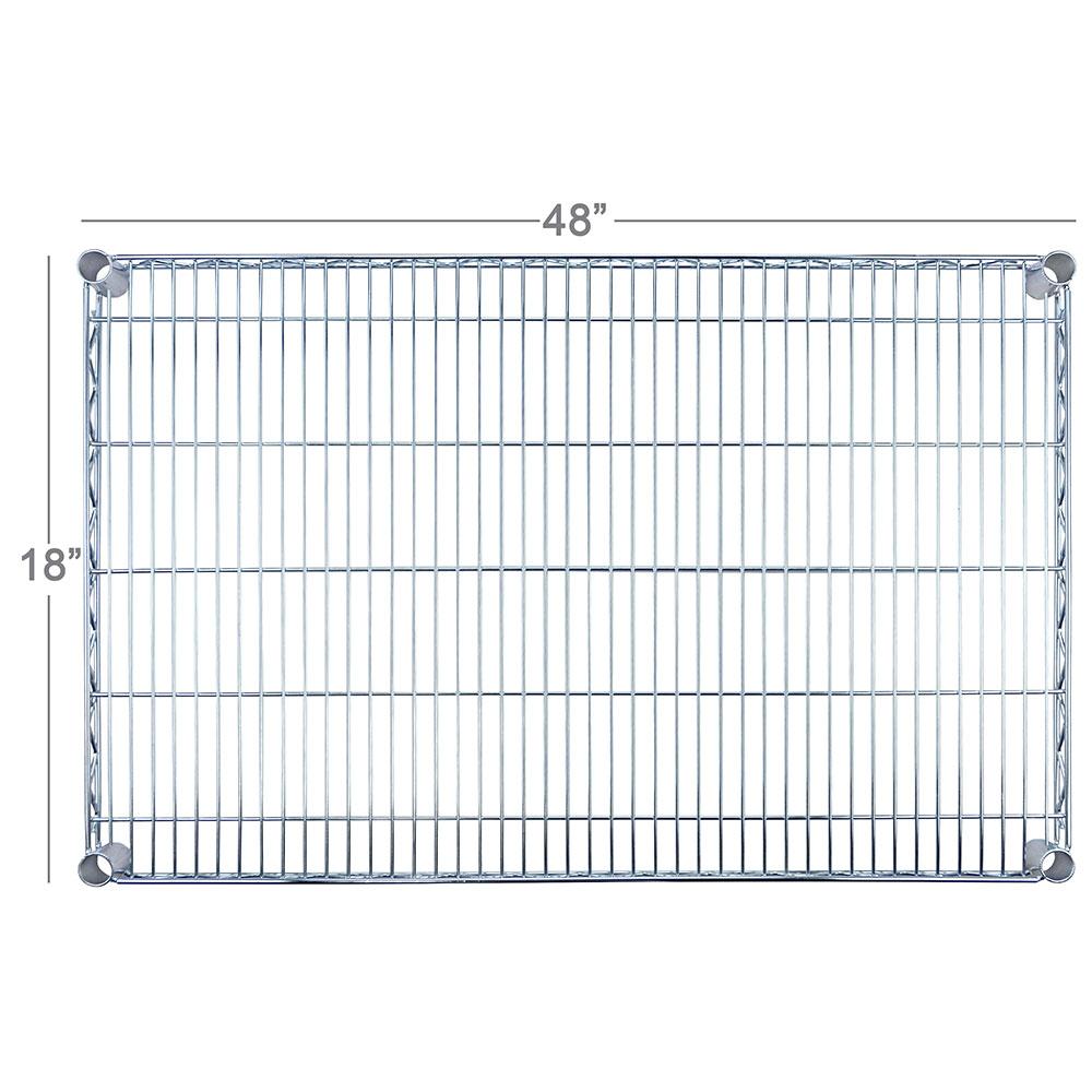 "Focus FF1848WRSS Stainless Wire Shelf - 18x48"""