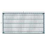 "Focus FF1854G Epoxy Coated Wire Shelf - 18x54"""