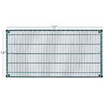 "Focus FF1872G Epoxy Coated Wire Shelf - 18x72"""