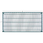 "Focus FF2136G Epoxy Coated Wire Shelf - 21x36"""
