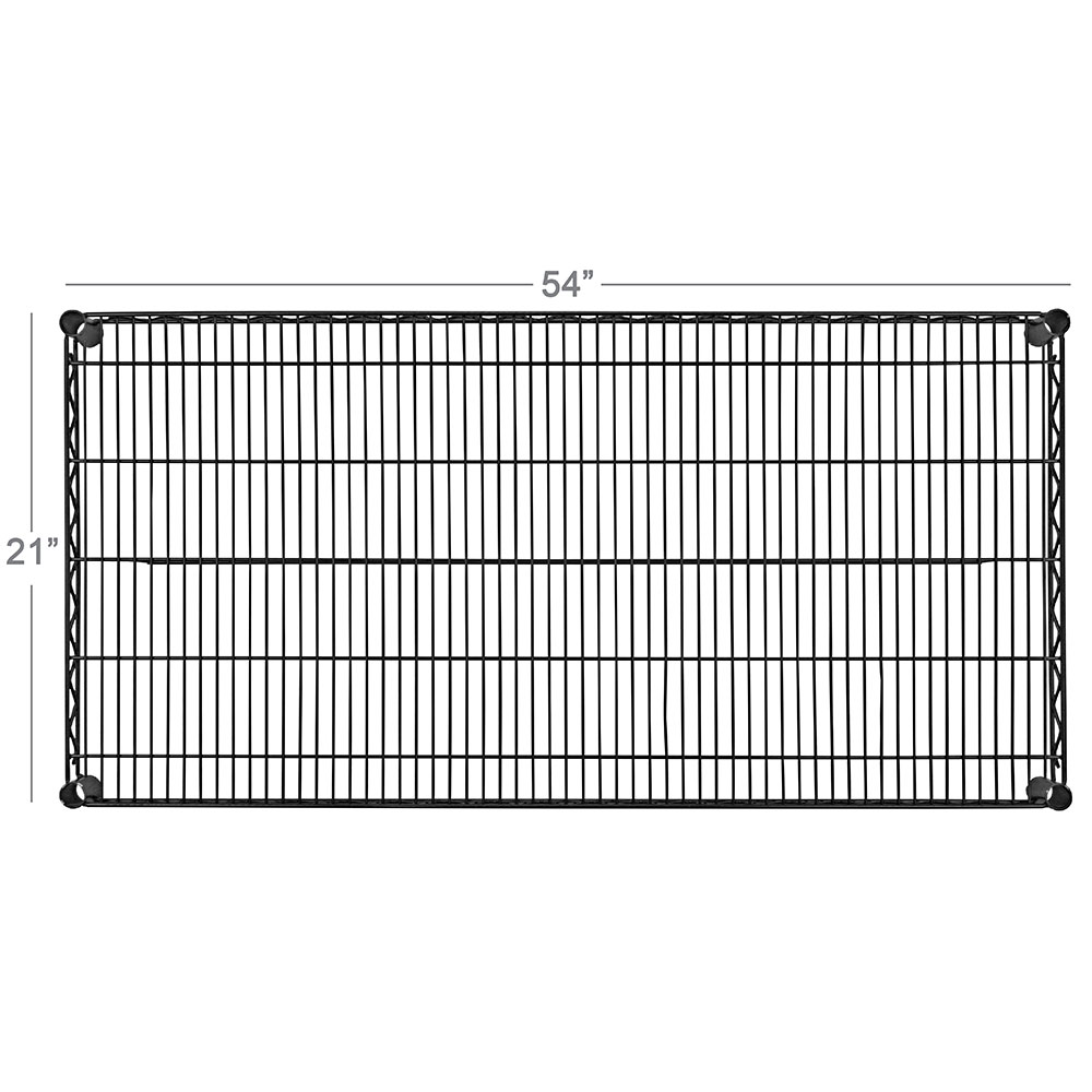 "Focus FF2154BK Epoxy Coated Wire Shelf - 21x54"""
