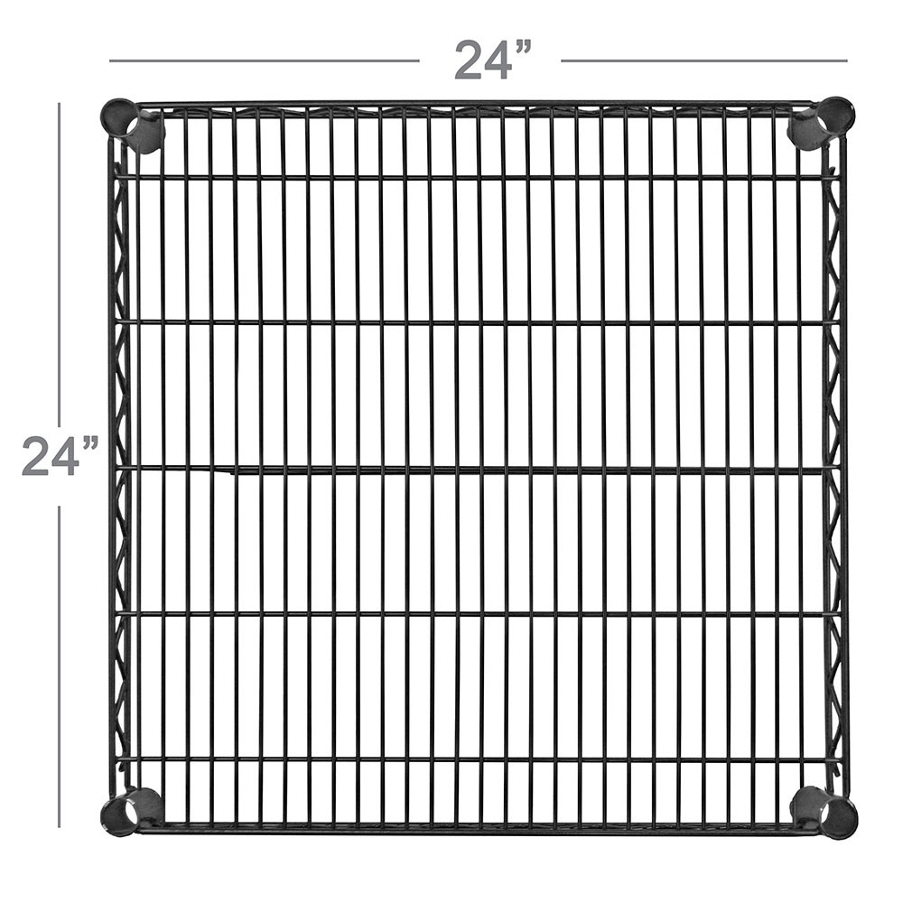 Focus FF2424BK Epoxy Coated Wire Shelf - 24x24""