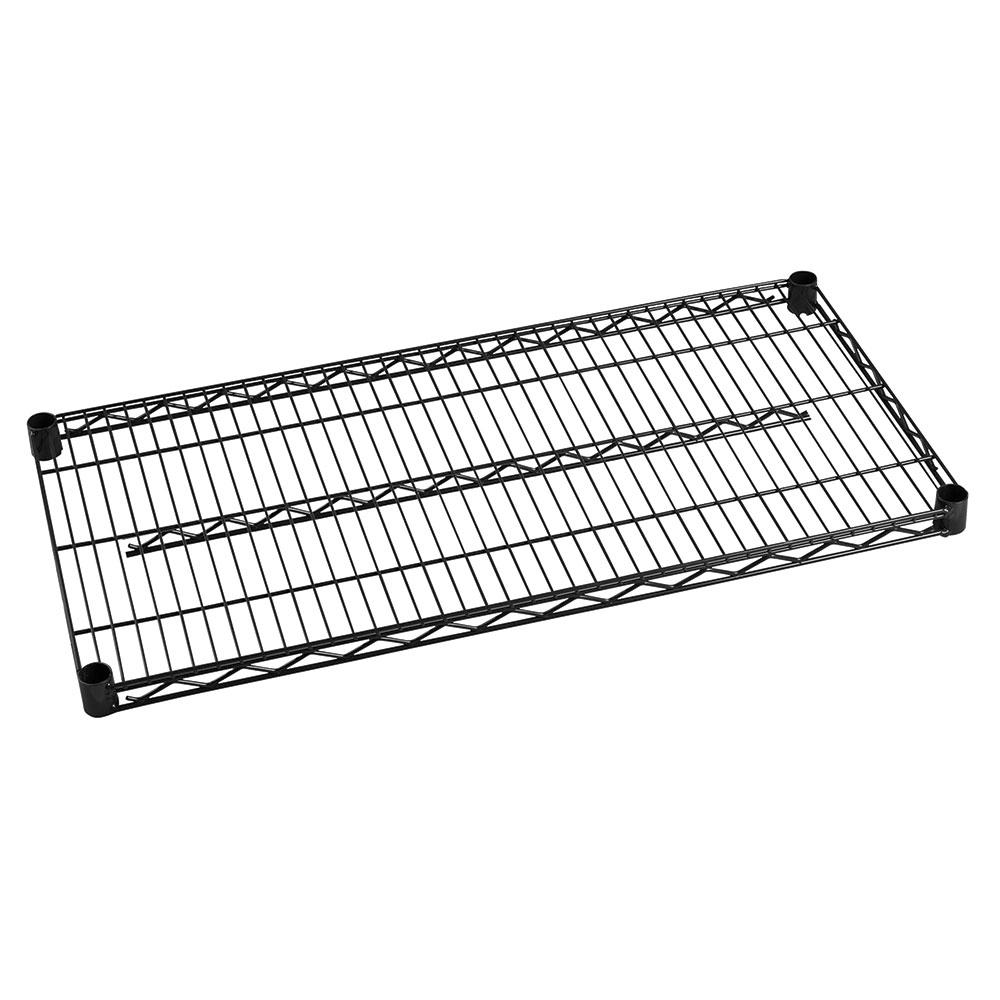 "Focus FF2448BK Epoxy Coated Wire Shelf - 24x48"""