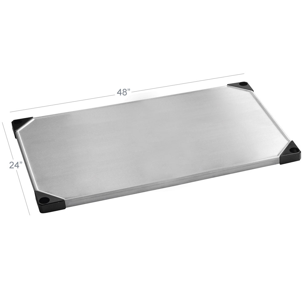 Focus FF2448SSS Stainless Wire Shelf - 24x48""