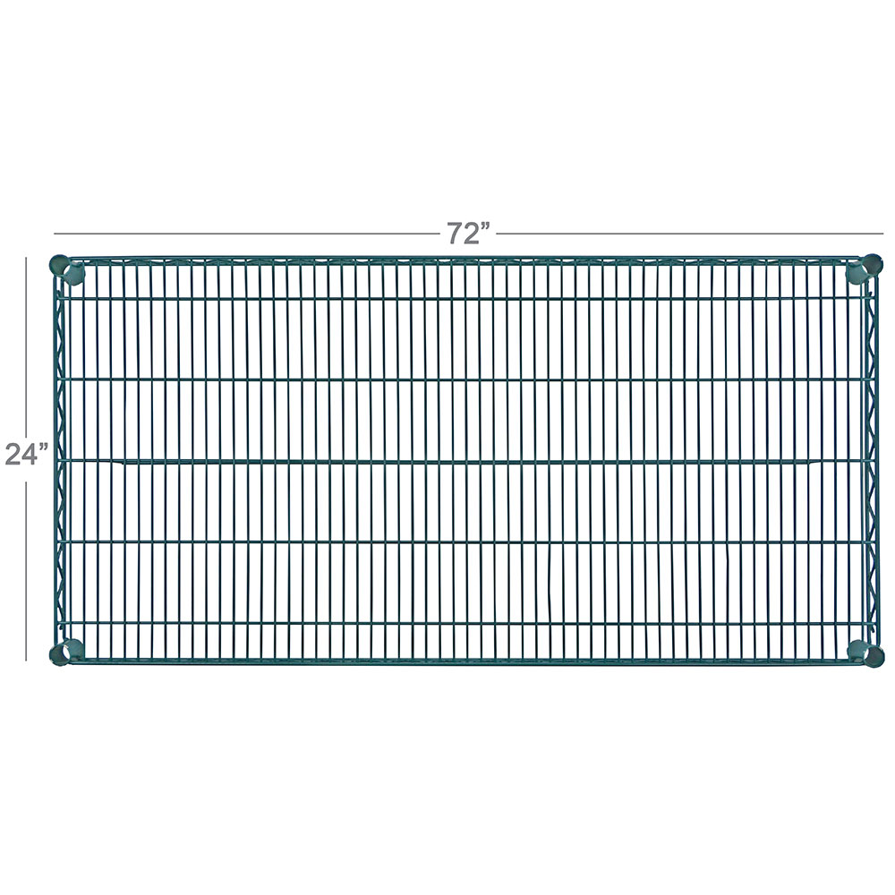 "Focus FF2472G Epoxy Coated Wire Shelf - 24x72"""