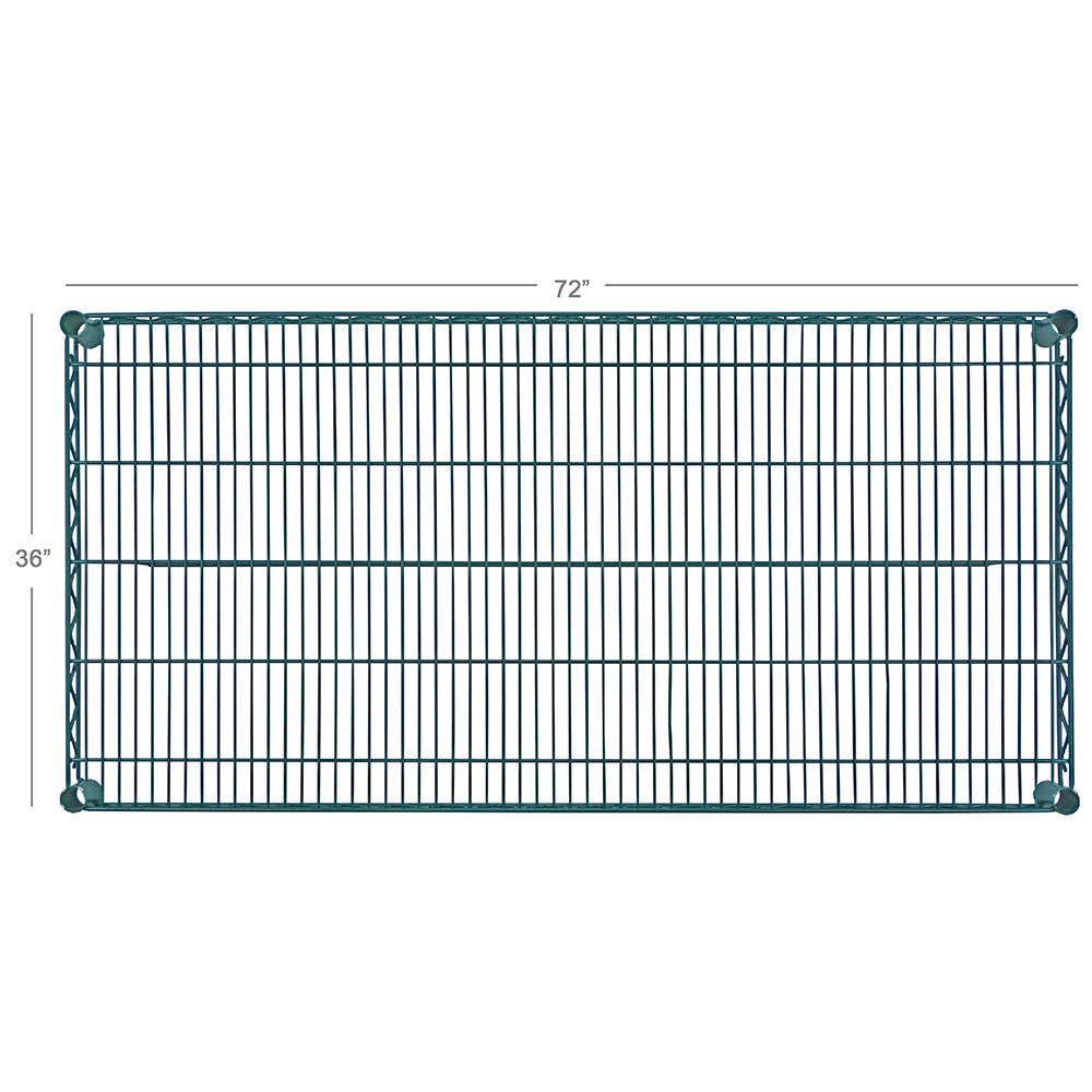 Focus FF3672GN Epoxy Coated Wire Shelf - 36x72""