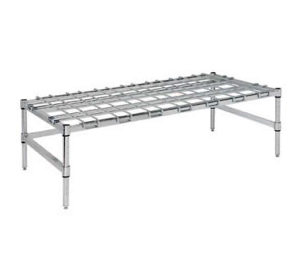 Focus FFSDR2436CH Stationary Dunnage Rack, 24 in W x 36 in L x 13-1/2 in H, Chrome