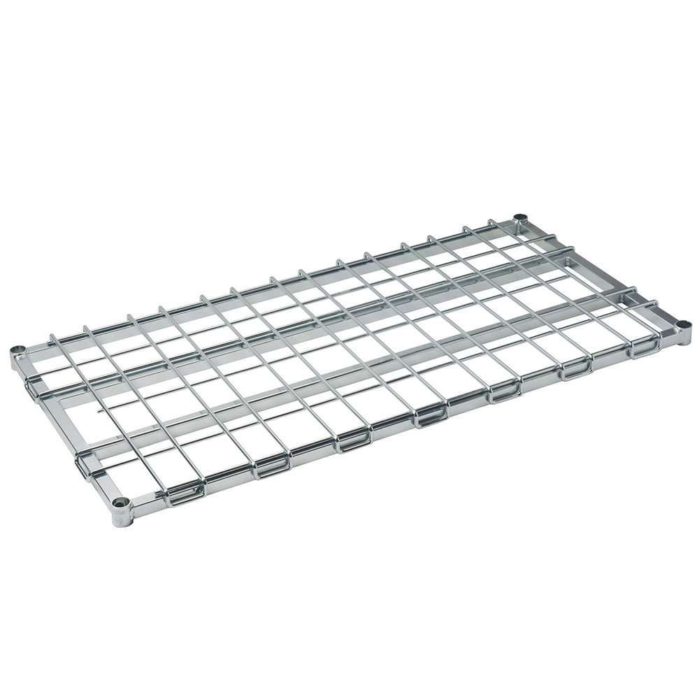 Focus Foodservice FFSM2448CH Dunnage Shelf 24 in W x 48 in L Heavy Duty Chrome Restaurant Supply