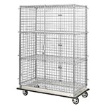 "Focus FHDMSEC24363 Mobile Security Cage w/ 63"" Staked Posts, (3) 24 x 36"", NSF"