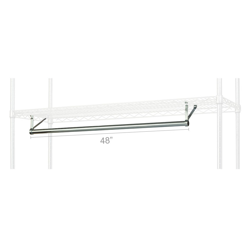 "Focus FHR481821 48"" Garment Hanger Rod w/ Brackets Fits 18 x 21"" Shelf, NSF"
